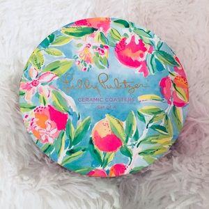 NEW Lilly Pulitzer ceramic coasters